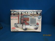 Ertl Peterbilt 359 Conventional Blue Print Model Kit Die Cast Metal Chassis NOS