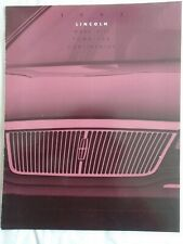 Lincoln Mark VIII, Town Car & Continental brochure 1993 USA market