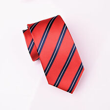 Red & Blue Business Striped 3 Inch Tie for Mens Hot Professional College Fashion