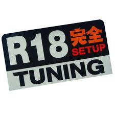 R18 engine Setup Tuning racing 3M JDM stickers decals dash car JDM RX7 RX8