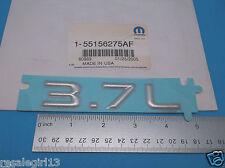 NOS Genuine Mopar OEM 02 03 04 07 JEEP 3.7L Rear Tailgate Emblem Nameplate Decal