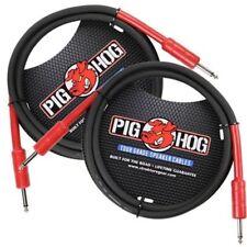 """2-PACK Pig Hog 5 ft 1/4"""" Speaker Cable 8mm Amp Head Cord PHSC5 14 Gauge PigHog"""