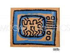 POP ART PRINT Untitled 1981 (TV) Keith Haring 10x8 McGaw