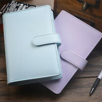 A5 Leder Lose-Blatt-Ring-Binder-Notebook Macaron Farbe Agenda Planer Tagebuch