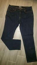 TINT Womens Dark Denim Jeans with colored stitching Size 12 Average