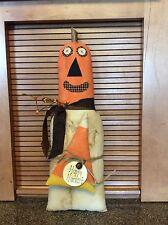 Primitive pumpkin doll stump/shelf sitter/folk art