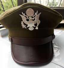 WWII WW2 US ARMY AIR CORPS FORCE MILITARY HAT OFFICER WIDE BRIM HAT CAP SIZE M