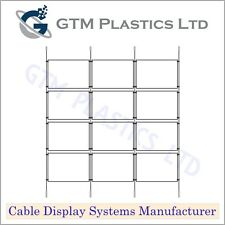 Cable Window Estate Agent Display - 3x4 A4 Landscape - Suspended Wire Systems