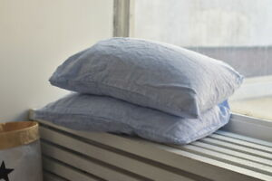 Linen Pre Washed PILLOW COVER Case Queen King Standard Pillowslip Flax pillow