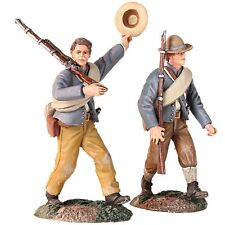 """W. Britain - """"Huzza For the Company"""" - Confederate Infantry Marching Set #31240"""