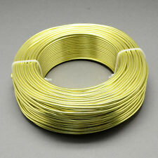 2mm Aluminio Alambre De Arte Florista fabricación de joyas Caqui Claro Verde 3m longitudes