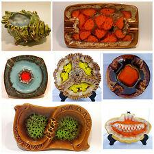 Collectors Vintage Japanese Drip Glaze Ceramic Pottery Art Ashtray 20 Piece Set!
