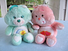 "Vintage 2 1983 Kenner American Greetings 13"" Care Bears Bed Time Bear & Love A L"