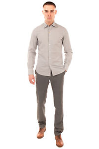 RRP €180 CANALI Jacquard Shirt Size S Garment Dye Textured Made in Italy