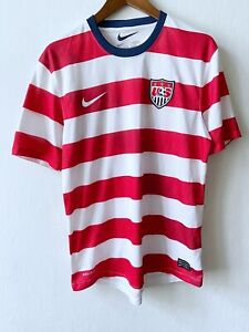 Nike Soccer US NATIONAL TEAM USA 2012 Home Football Home Striped Jersey size M