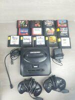 Sega Genesis Model 2 Console Bundle Lot 13 Sports Games 2 Controllers TESTED