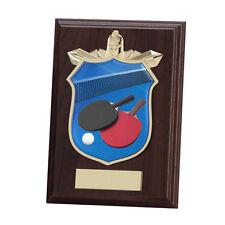 Tennis de table plaque en bois Titan, trophée,175 mm, Gravure Libre (pl15139d)