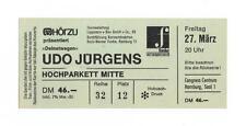 Udo Jürgens - Deinetwegen - altes Konzert-Ticket - Hamburg vom 27.03.1987 s.Bild