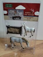 Lemax Christmas Village Collection Horses at the Trough 12517 Retired
