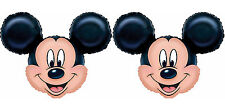 Disney Mickey Mouse Head Shape Foil Balloons Birthday Party Supplies Favor ~ 2ct
