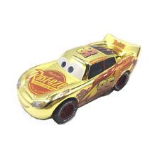 Cars 3 Racers Metallic Golden Mcqueen Diecast Toy Car 1:55 Loose Boys Vehicle