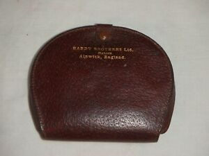 """Rare Hardy Brothers Leather """"Clam Shell"""" Cast Damper Wallet"""