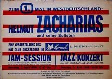 ZACHARIAS, HELMUT - 1949 - Konzertplakat - Hot Club Düsseldorf - Concert - Jazz