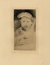Un Portrait d'après Rembrandt - Eau forte du XIXème siècle