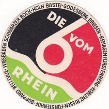 Vintage Luggage Label Die 6 vom Rhein Hotel Koblenz Wiesbaden Koln Boppard small