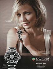 Publicité contemporaine bijou montre TagHeuer  2013 issue de magazine