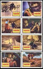 MANIAC 11x14's DONALD HOUSTON/KERWIN MATHEWS original 1963 HAMMER lobby card set