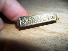 Strongline Tie Pin-Gold-With Logo-Unusual rarer find-Australian-3.8 cm wide.