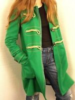 Dsquared2 NWOT Ladies Green Wool Blend Coat Toggle/Zipper Sz 40 Made in Italy
