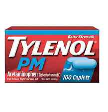 TYLENOL PM Extra Strength Pain Reliever/Nighttime Sleep Aid Caplets 100 ea