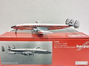 "Herpa Wings Qantas Lockheed L1049G ""Southern Zephyr"" 1:200 VH-EAP 570596"