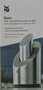 WMF Two in One 2-tlg Salz-/ Pfefferstreuer Set - Silber