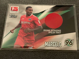 2015-16 Topps Bundesliga Chrome Trikotkarte 082/310 Marcelo Hannover 96