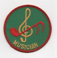 Musician Position Patch (M-8 1972-89), Red Brd, Plastic Back, Mint!