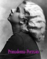 "JEAN HARLOW 8X10 Lab B&W Photo ""IRVING CHIDNOFF"" 1930's Classic Glamour Portrait"