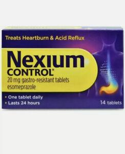 Nexium Control 20mg 14 Tablets Treats Heartburn & Acid Reflux Lasts 24 hours