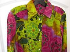 ETRO Women's Paisley Long Sleeve Button Down Top Blouse Size 44 / US 8 - Cotton