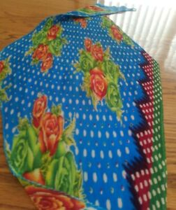Vintage Scarf Women's Fashion. Crinkle Stretch. Blue, Red,Green,White polka dots
