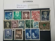 Osterreich Austria 1949 -54  used & hinged mint