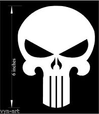 """Punisher - Decal / Sticker  6"""" tall Premium cutout vinyl (Choose any Color!)"""