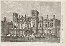 1870 LONDON UNIVERSITY NEW BUILDINGS IN BURLINGTON GARDENS