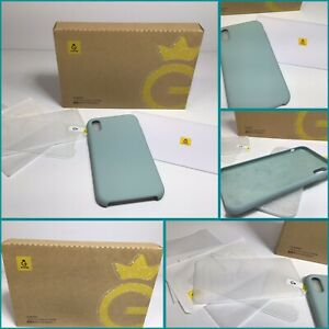 Gvienwin Compatible with Iphone Xr Case. Light Teal Design