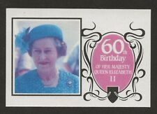 More details for saint lucia 1986 60th birthday queen elizabeth,$3.50 imperf proof-red/blue/black