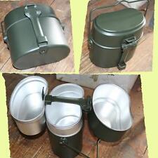 Bundeswehr 3 piece Aluminium Cookware Dinnerware Army Cookware NEW
