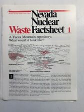 Nevada Nuclear Waste Fact Sheets 1-8 (March 1988] NNWPO PreownedBook.com