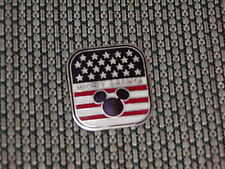 Disney Trading Pin - Mickey Mouse head Stars & Stipes American Flag 2000